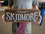 Carved Sign for the Artist Studio: Brent Skidmore, the Great!